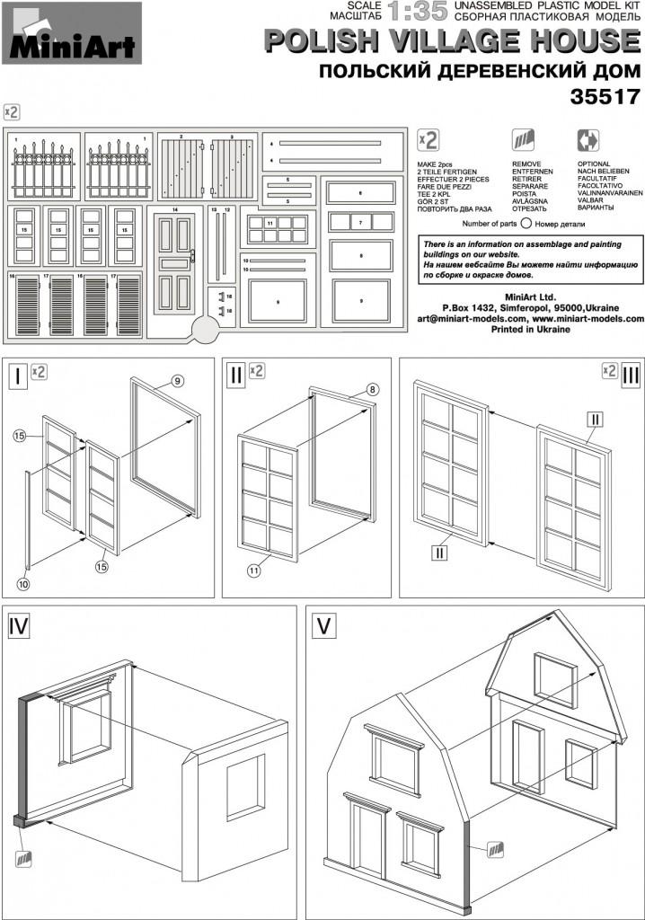 Miniart 35517-1:35 Polnisches Dorfhaus