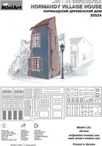 Content box 35524ノルマンディ-の村の家