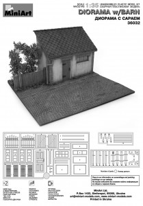 Content box 36032 DIORAMA WITH BARN