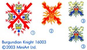 Content box 16003 BURGUNDIAN KNIGHT XV CENTURY