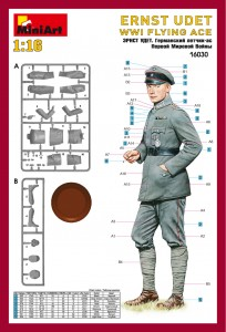 Content box 16030 ERNST UDET. WW I FLYING ACE