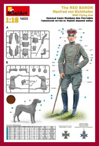 Content box 16032 THE RED BARON Manfred von Richthofen WWI FLYING ACE
