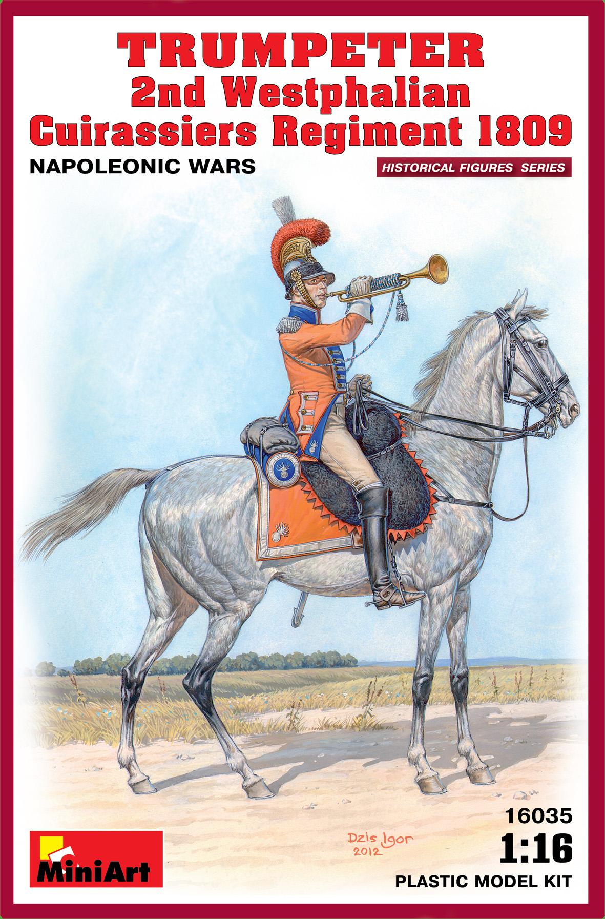 TRUMPETER 2nd Westphalian Cuirassiers Regiment 1809 Napoleonic wars