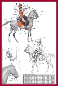 Content box 16035 TRUMPETER 2nd Westphalian Cuirassiers Regiment 1809 Napoleonic wars
