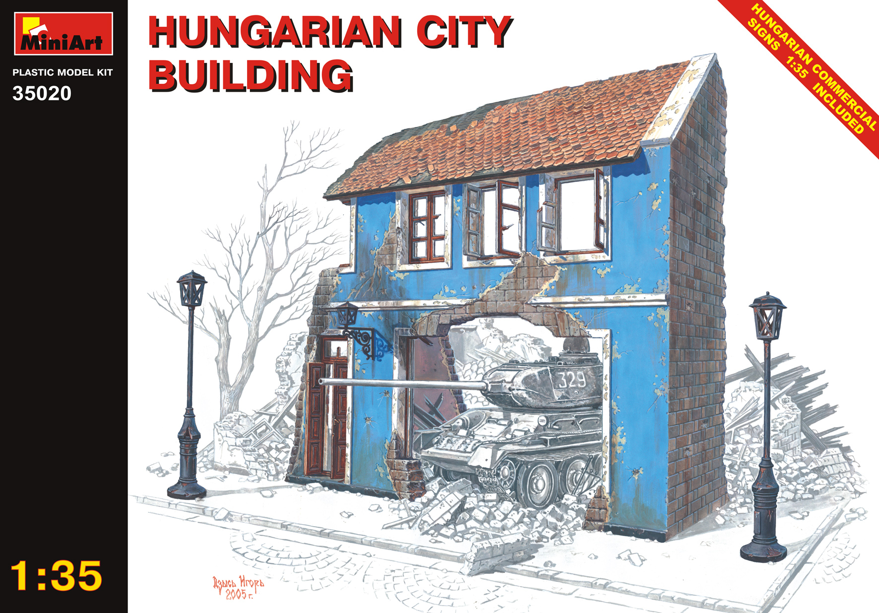 35020 HUNGARIAN CITY BUILDING