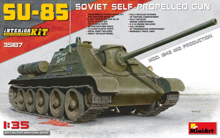 35187 SU-85 SOVIET SELF-PROPELLED GUN. INTERIOR KIT