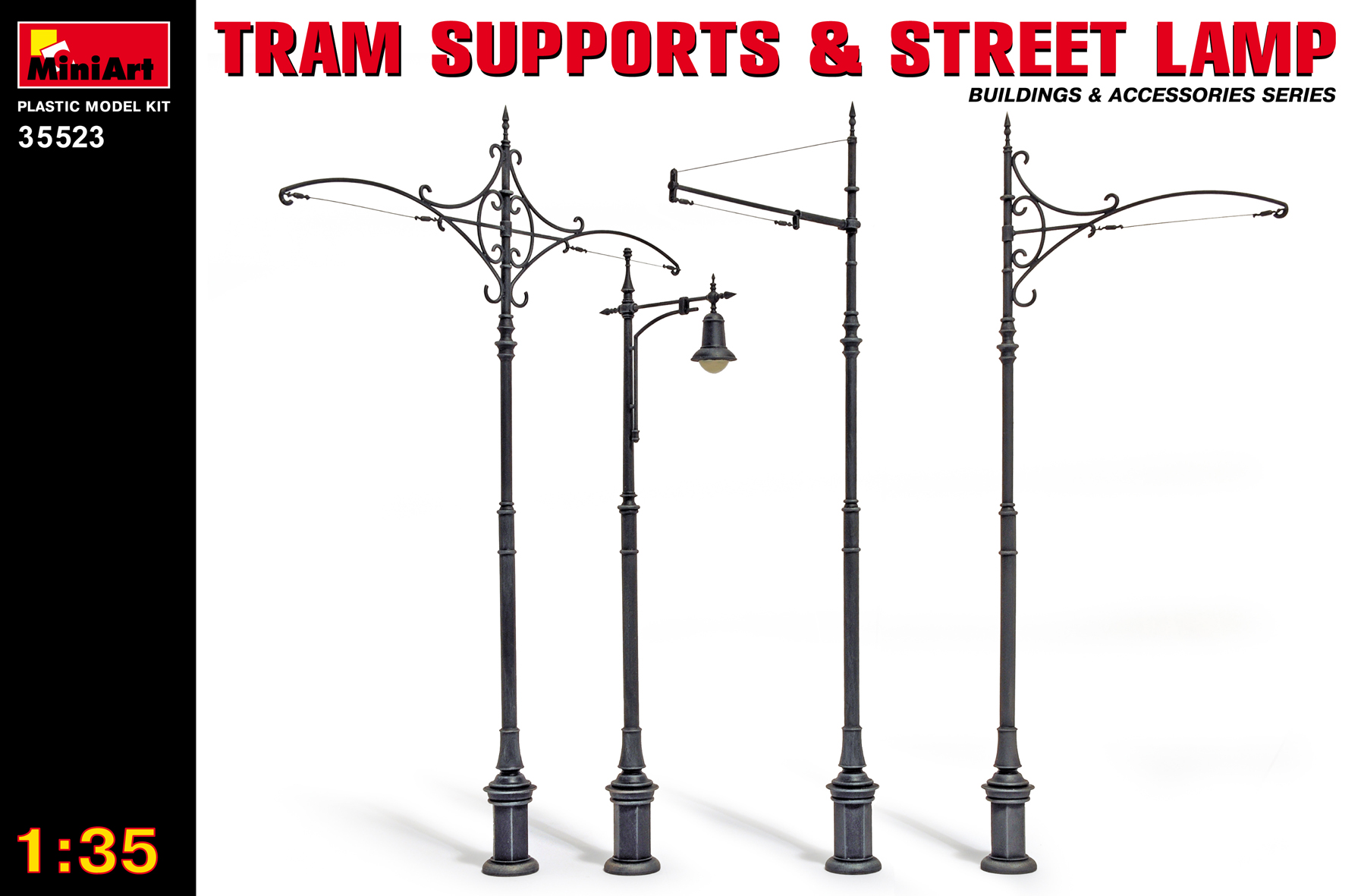 35523 TRAM SUPPORTS & STREET LAMP