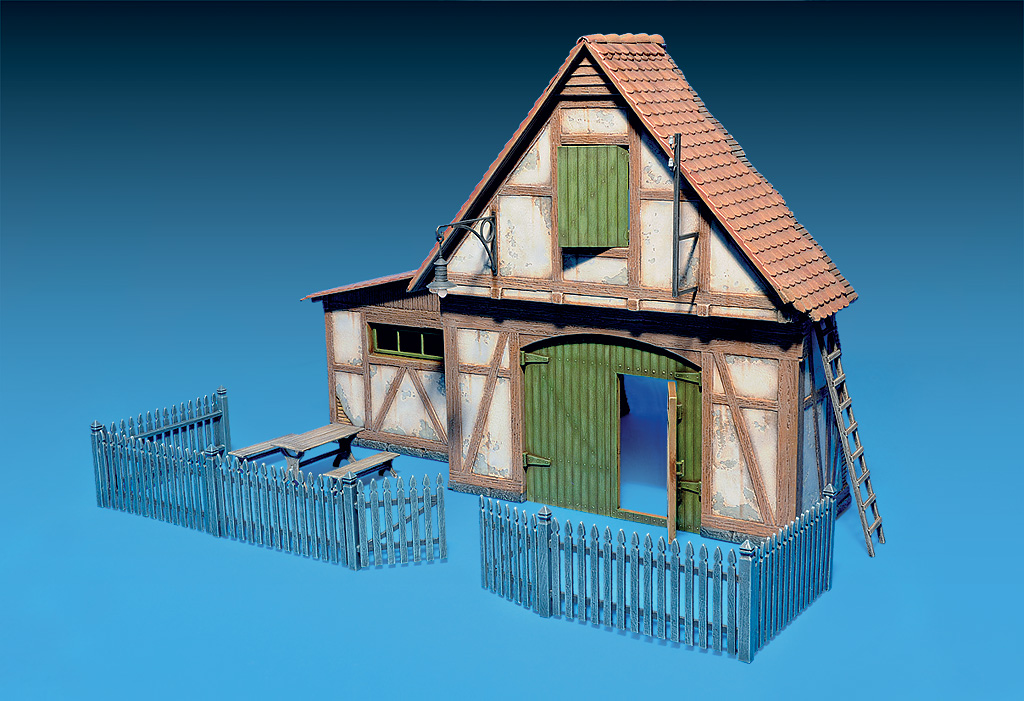 35556 SHED WITH WOODEN FENCE
