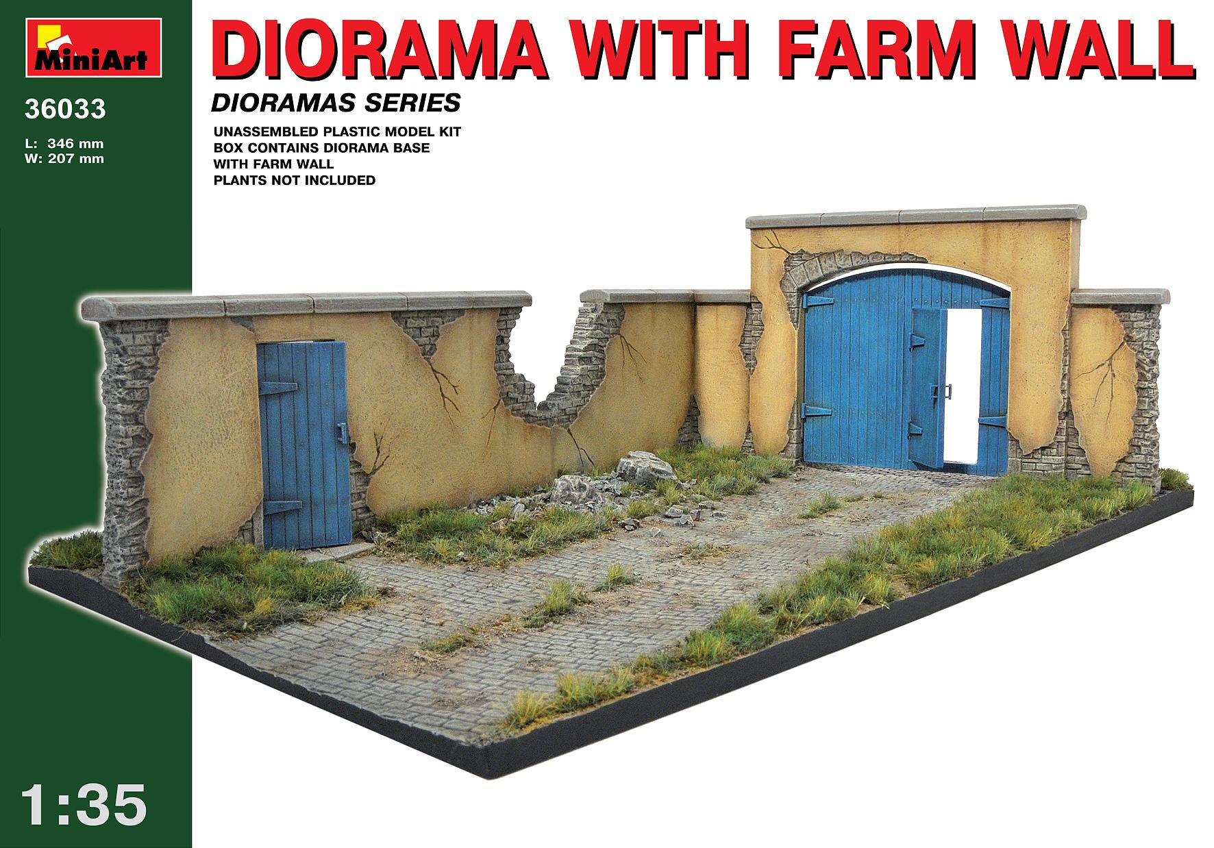 36033 DIORAMA w/FARM WALL