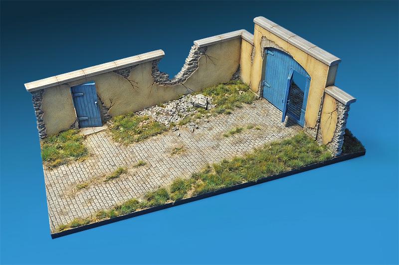 36033  立体场景 废墟 农场墙