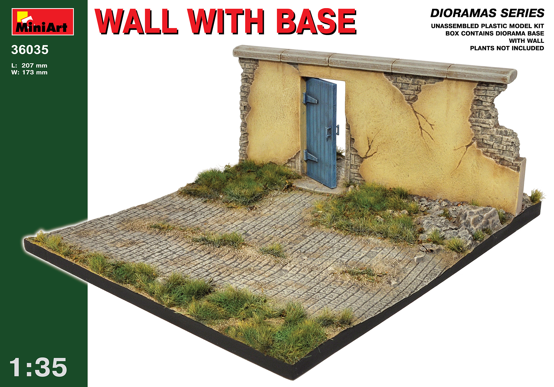 36035 WALL WITH BASE