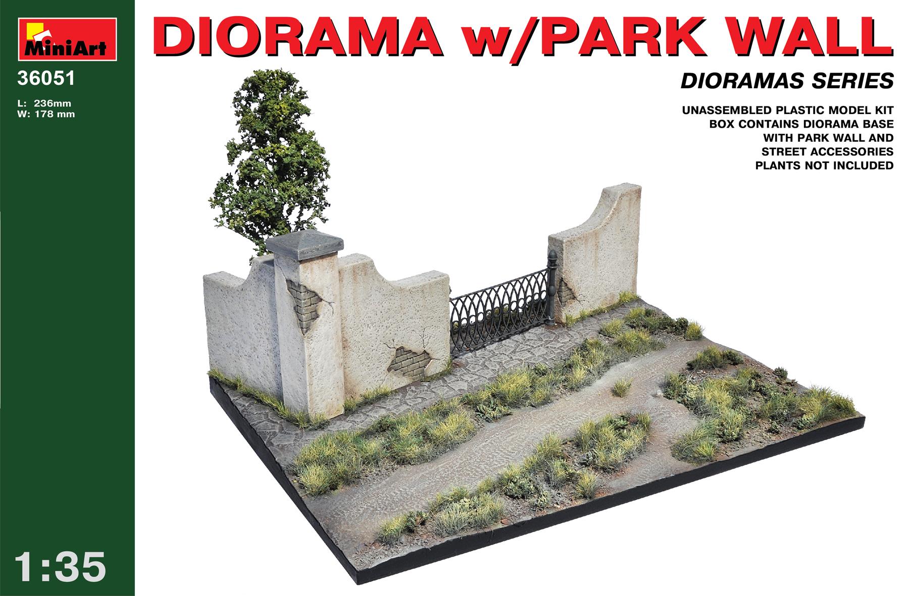 36051 DIORAMA w/PARK WALL