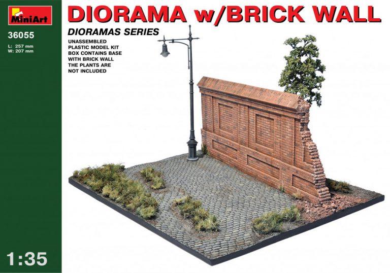 36055 DIORAMA w/BRICK WALL