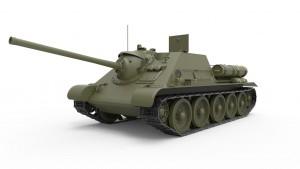 3D renders 35187 SU-85 SOWJETISCHE SELBSTANGETRIEBENE PISTOLE. INNENAUSSTATTUNG