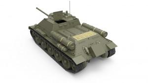 3D renders 35187 SU-85 1943年型 (中期型) 带全内构