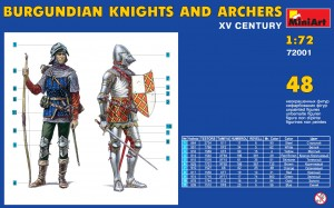 Content box 72001 BURGUNDIAN KNIGHTS AND ARCHERS XV CENTURY