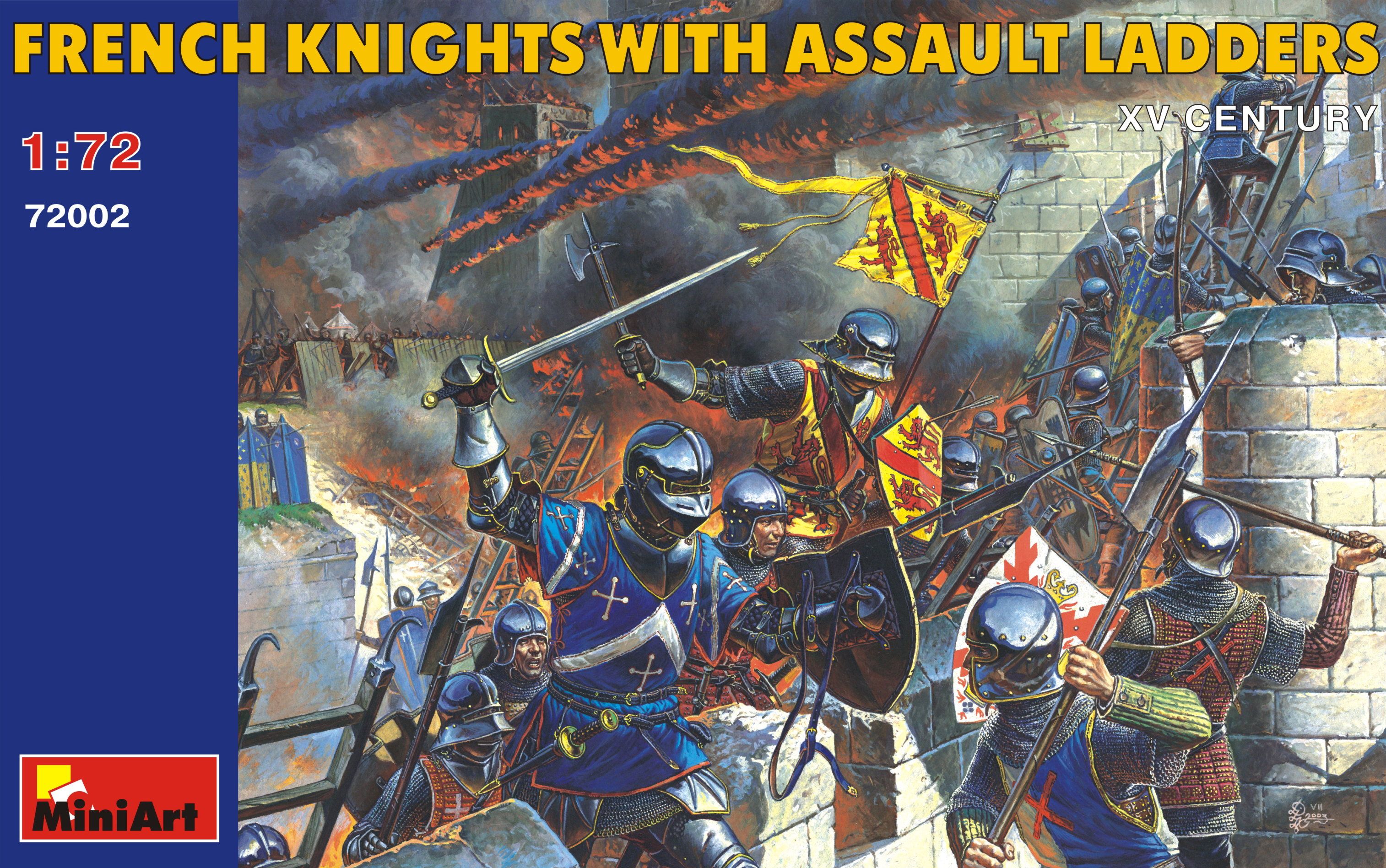 72002 FRENCH KNIGHTS WITH ASSAULT LADEERS XV CENTURY