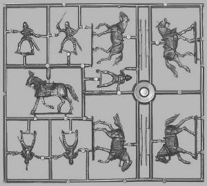 Content box 72006 BURGUNDIAN MOUNTED KNIGHTS XV CENTURY