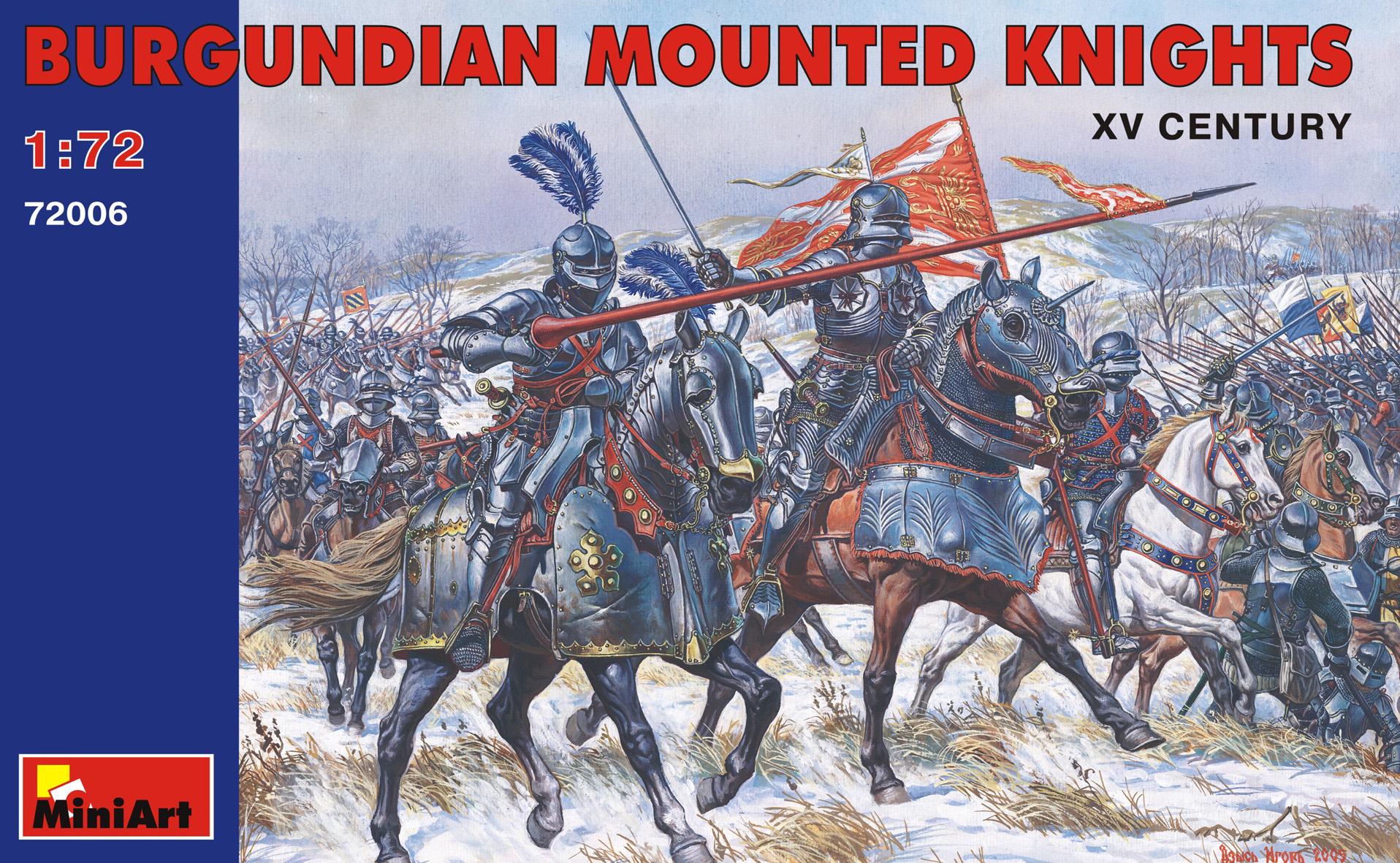 BURGUNDIAN MOUNTED KNIGHTS XV CENTURY