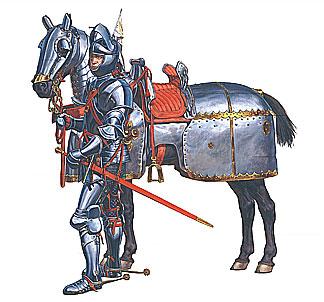 72006 BURGUNDIAN MOUNTED KNIGHTS XV CENTURY