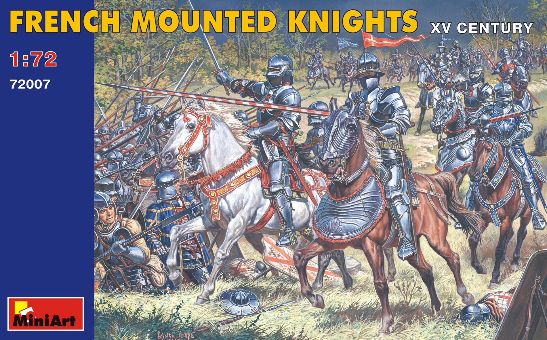 72007 FRENCH MOUNTED KNIGHTS XV CENTURY