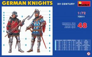 Content box 72011ドイツ騎兵(15世紀)フィギュアセット