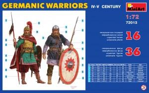 Content box 72013ゲルマン戦士(4-5世紀)フィギュアセット