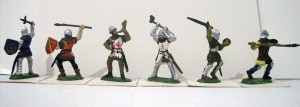 72001 BURGUNDIAN KNIGHTS AND ARCHERS. XV CENTURY