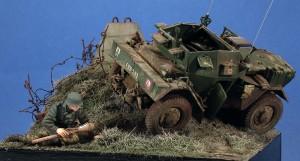 35077 DINGO Mk.III BRITISH SCOUT CAR w/CREW