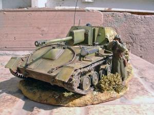 35036 Soviet SU-76M w/Crew