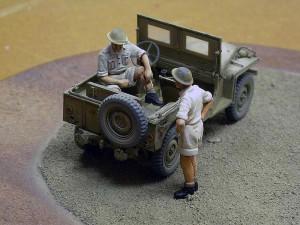 35050 BRITISH STAFF CAR w/CREW