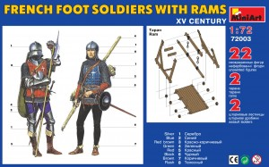 Content box 72003 FRENCH FOOT SOLDIERS WITH RAMS XV CENTURY