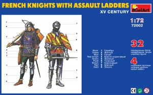 Content box 72002 FRENCH KNIGHTS WITH ASSAULT LADEERS XV CENTURY
