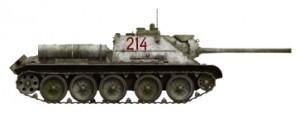 Side views 35187 SU-85 1943年型 (中期型) 带全内构