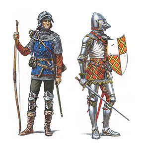 72001 BURGUNDIAN KNIGHTS AND ARCHERS XV CENTURY