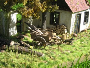 35024 UKRAINIAN VILLAGE HOUSE + 35542 FARM CART