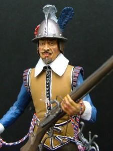 16010 NETHERLANDS MUSKETEER XVII CENTURY