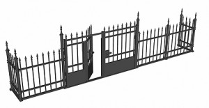 3D renders 35549 METAL FENCE