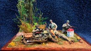 35179 U.S. MOTORCYCLE WLA w/RIFLEMAN
