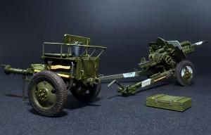 35129 USV-BR 76-mm GUN Mod. 1941 w/LIMBER & CREW