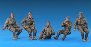 35040 GERMAN ARTILLERY CREW RIDERS + Vladimir Demchenko