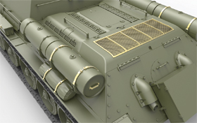 3D renders 35181 SU-122 Early Production