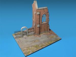 36030 DIORAMA w/RUINED CHURCH