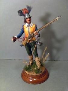 16010 NETHERLANDS MUSKETEER. XVII CENTURY