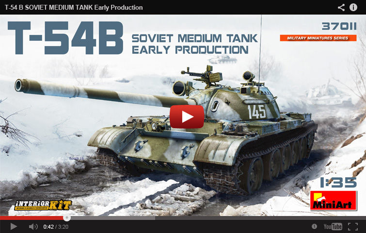 New MiniArt's Tank T-54B announcement