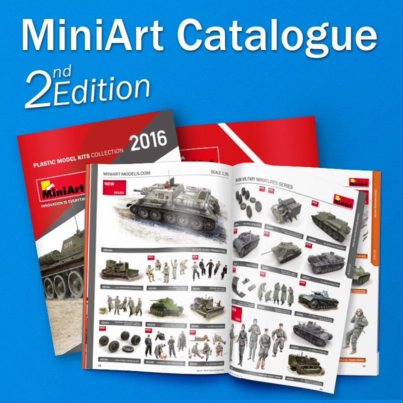 2nd edition of the MiniArt's Catalogue 2016 is available for free download