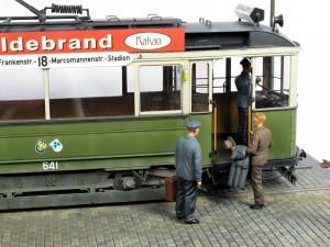 38003 GERMAN TRAMCAR 641 (Strassenbahn Triebwagen 641) + 35095 MB TYPE 170V Personenwagen + 38007 TRAM CREW w/PASSENGERS + 35086 GERMAN CIVILIANS
