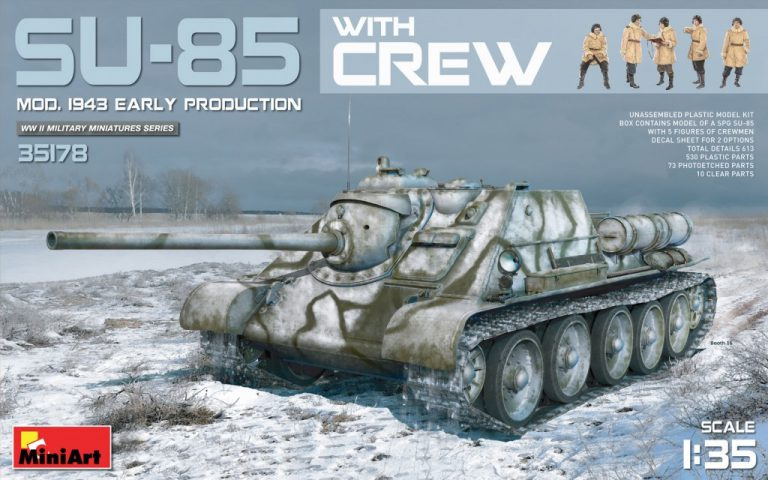 35178 SU-85 SOVIET SPG Mod.1943 w/CREW (Early Production)