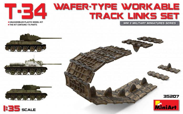 35207 T-34 WAFER-TYPE   WORKABLE  TRACK  LINKS  SET