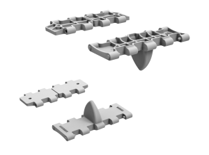 3D renders 35216 T-34 WAFER-TYPE HALVED WORKABLE TRACK LINKS SET